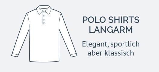 Langarm Poloshirts