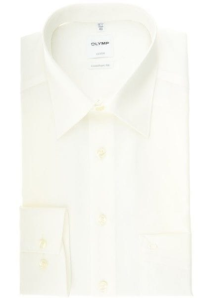 Olymp Hemd - Comfort Fit - creme, Einfarbig