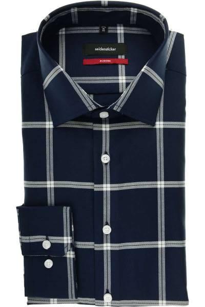 Seidensticker Modern Fit Hemd dunkelblau/weiss, Kariert