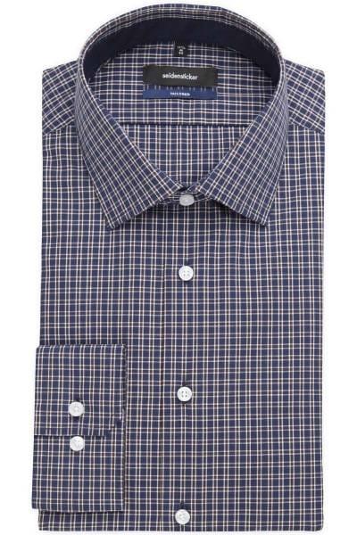Seidensticker Tailored Hemd blau/braun/weiss, Kariert