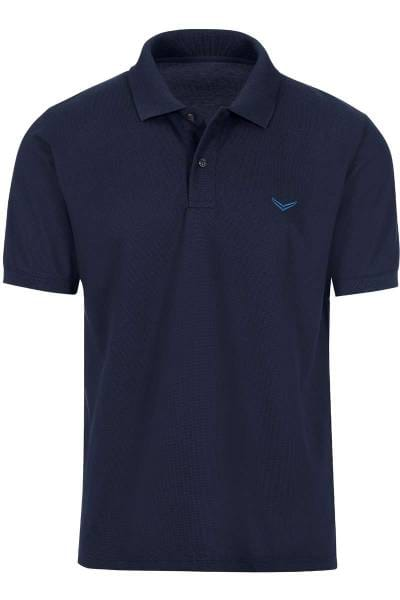 TRIGEMA Comfort Fit Poloshirt navy, Einfarbig