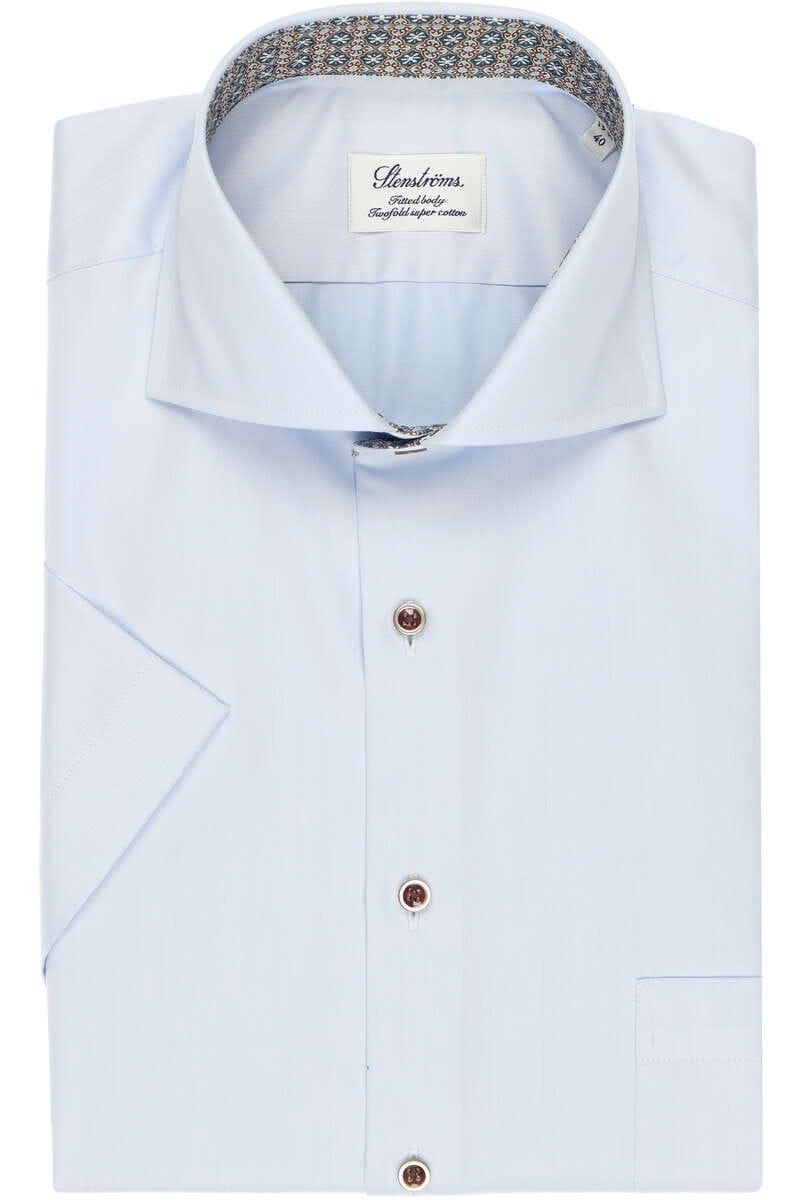 Stenströms Fitted Body Hemd hellblau, Einfarbig 44 - XL