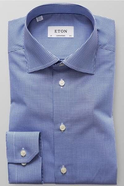 Eton Hemd - Contemporary Fit - blau/weiss, Vichykaro
