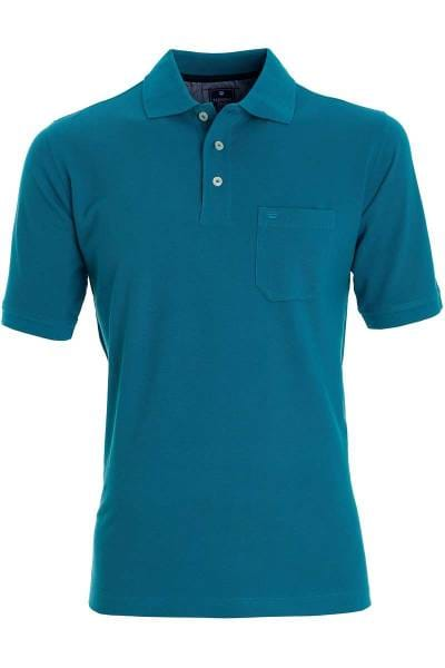 Redmond Casual Poloshirt türkis, Einfarbig