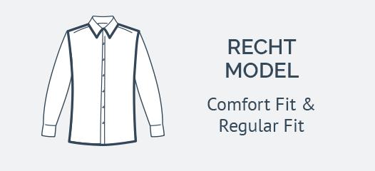 Recht Model trouw overhemd
