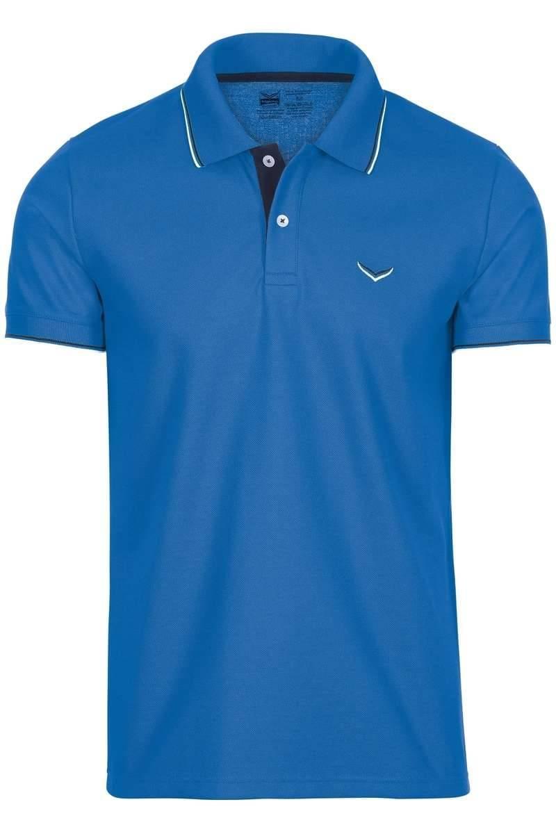TRIGEMA Slim Fit Poloshirt blau, Einfarbig