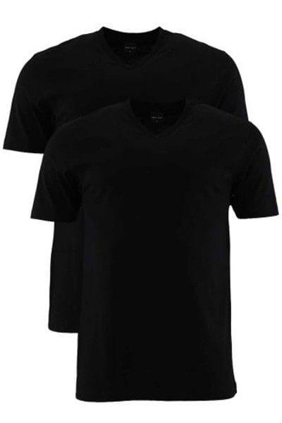 Marvelis T-Shirt - V-Ausschnitt - schwarz, Einfarbig