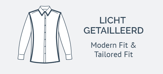Nieuwe Overhemden Modern Fit