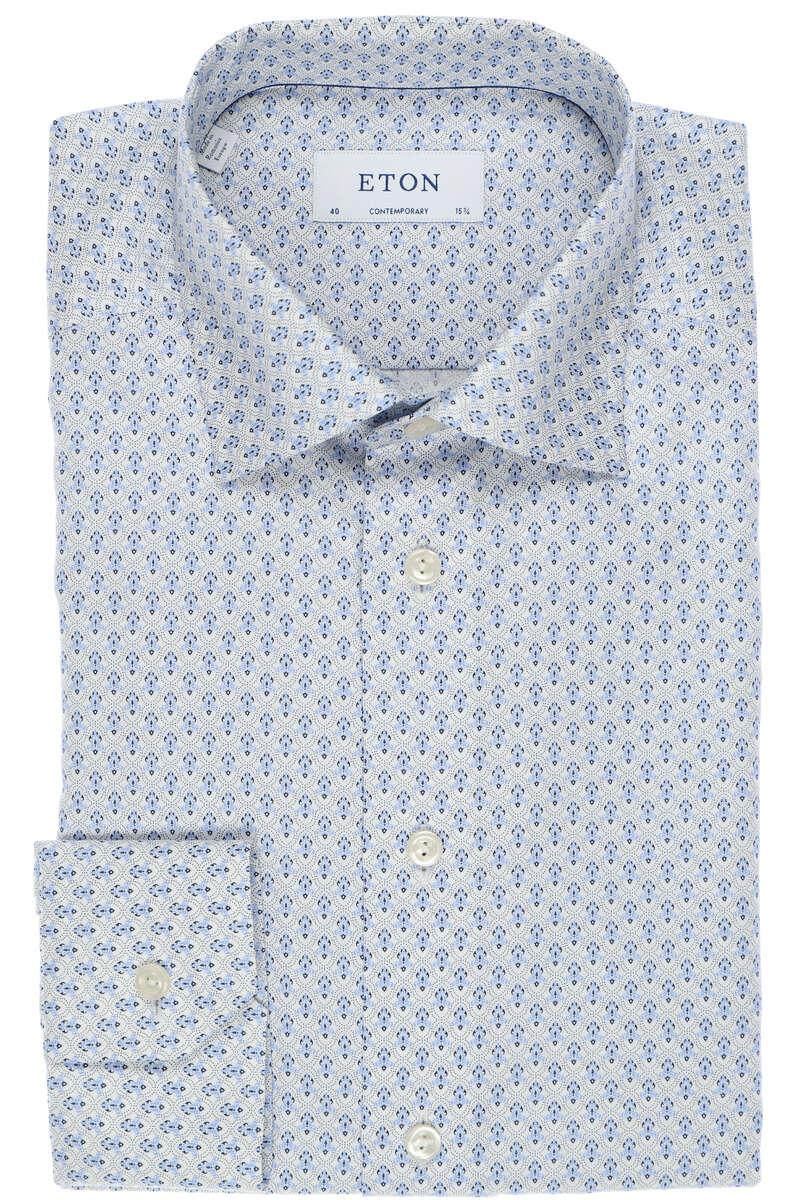 ETON Contemporary Fit Hemd blau/weiss, Gemustert 40 - M
