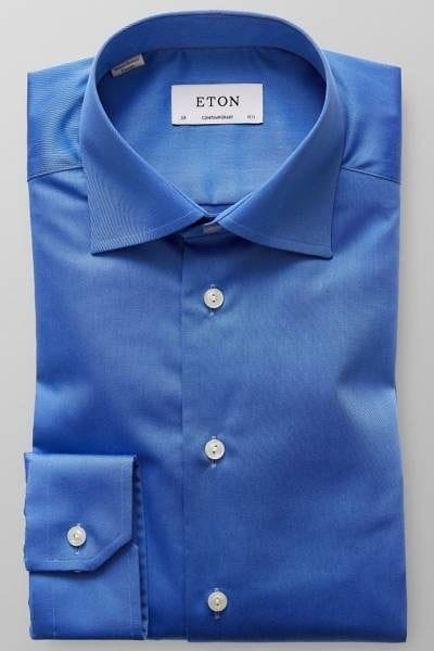 Eton Hemd - Contemporary Fit - blau, Einfarbig