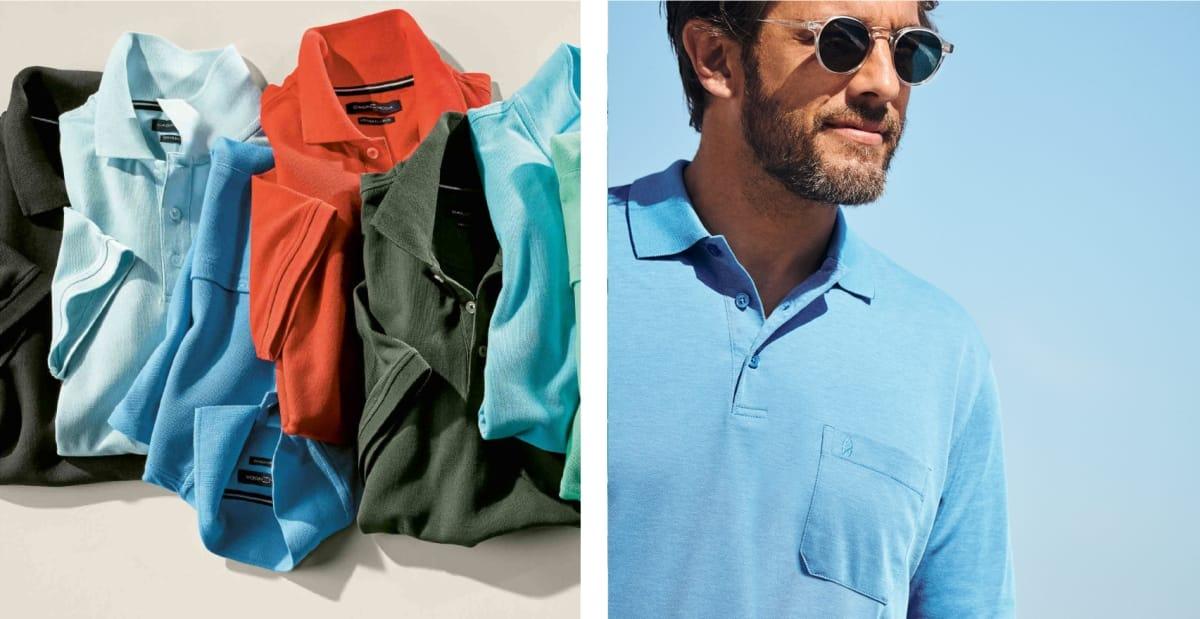 Poloshirts mit Brusttasche Herren Mood