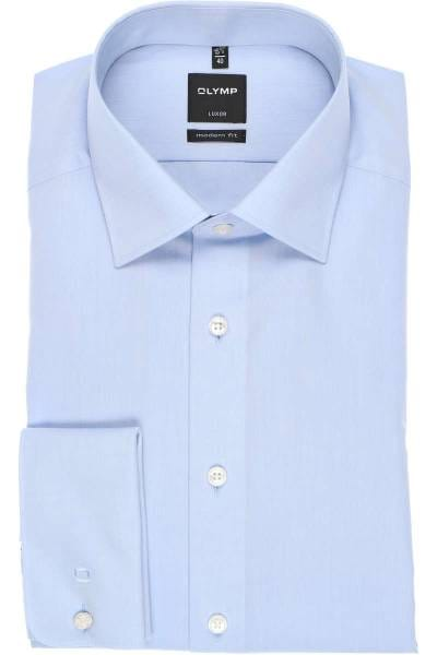 Mens Shirt Olymp Luxor Modern Tailored Fit Non Iron Pure Cotton Long Sleeve