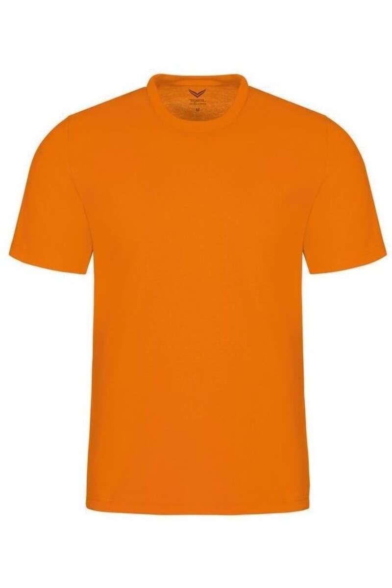TRIGEMA Comfort Fit T-Shirt Rundhals leuchtorange, einfarbig M