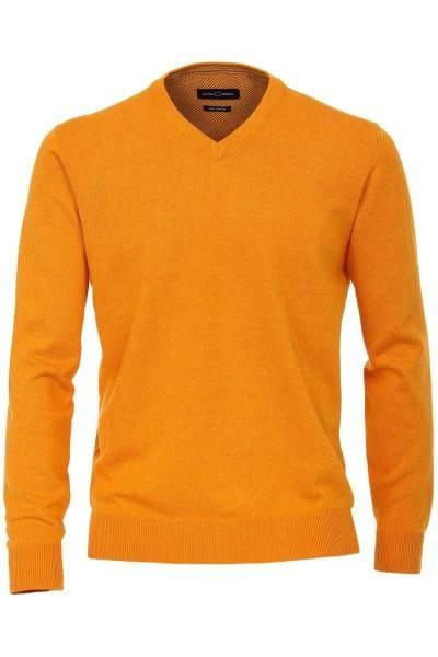 Casa Moda Strickpullover V-Ausschnitt orange, Einfarbig