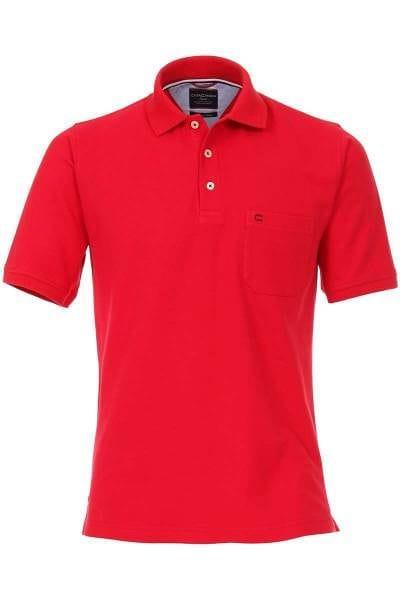 hochwertiges casa moda poloshirt in der farbe rot einfarbig das polo hemd ist pflegeleicht. Black Bedroom Furniture Sets. Home Design Ideas