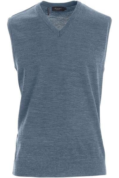 MAERZ Pullunder Classic Fit hellblau, einfarbig
