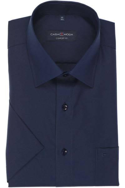 Casa Moda Comfort Fit Hemd marine, Einfarbig