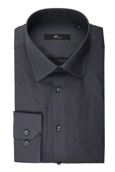 Venti Hemd - Slim Fit - grau, Einfarbig