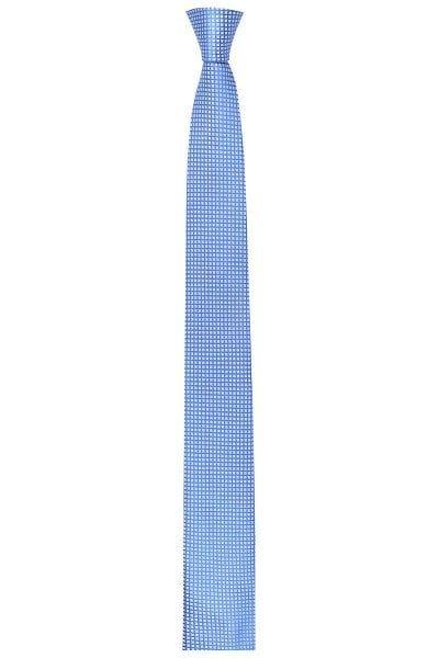 Venti Slim Krawatte - blau, Gemustert - aus reine Seide
