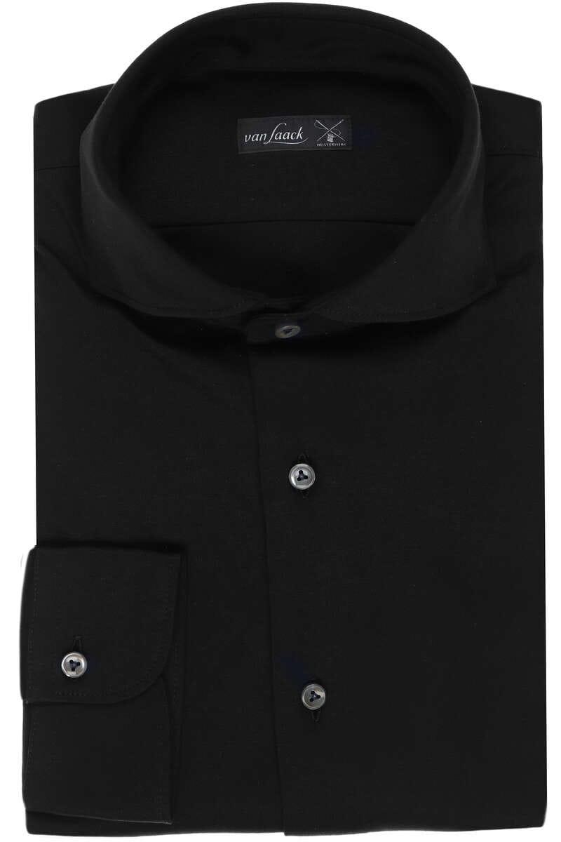 van Laack Tailor Fit Jerseyhemd schwarz, Einfarbig M