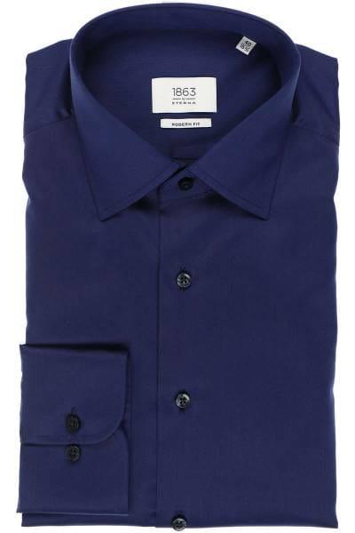 ETERNA 1863 Modern Fit Hemd marineblau, Einfarbig
