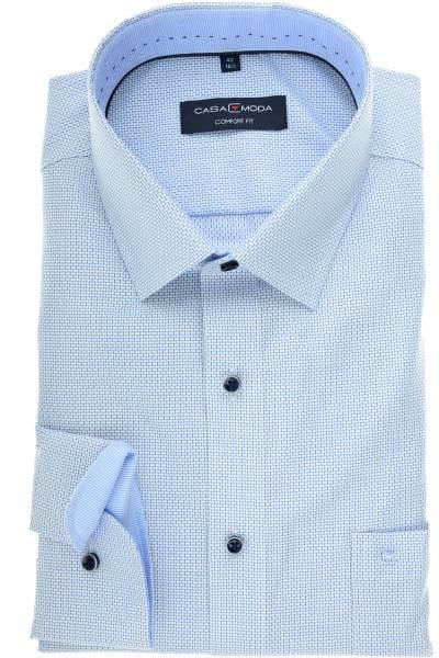 Casa Moda Comfort Fit Hemd blau/weiss, Gemustert