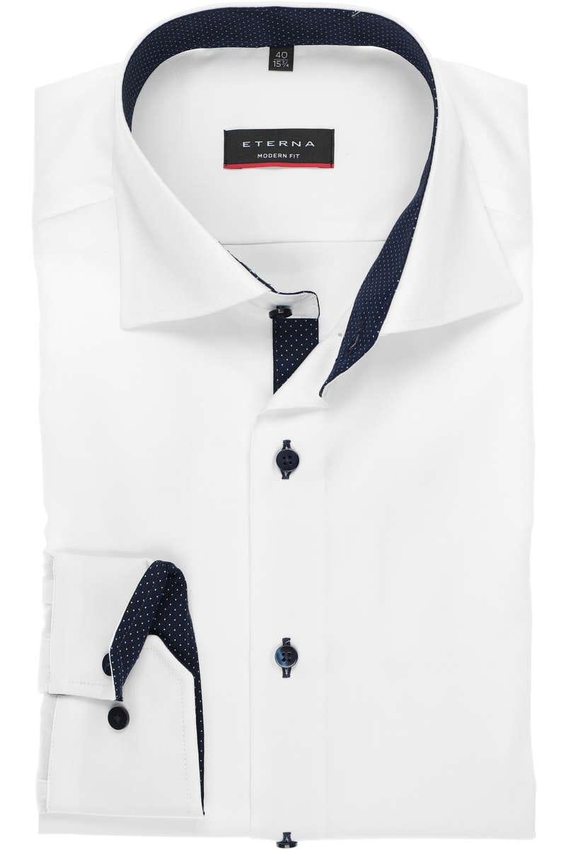 Eterna Hemd - Modern Fit - white, One Colour 42 - L