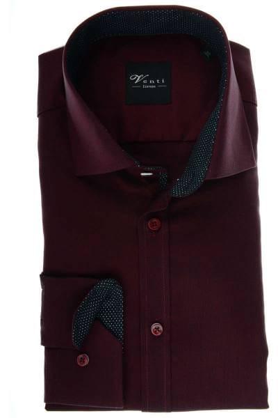 new concept 9622f f1d3c Venti Modern Fit shirt bordeaux/black, Textured