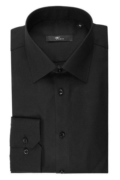 Venti Hemd - Slim Fit - schwarz, Einfarbig