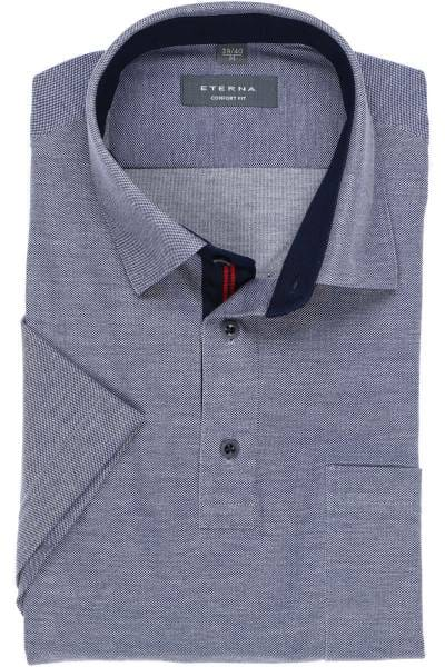 ETERNA Comfort Fit Poloshirt jeansblau, Einfarbig