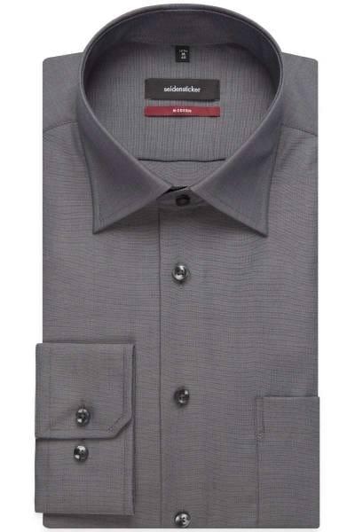 Seidensticker Hemd - Modern Fit - grau, Einfarbig
