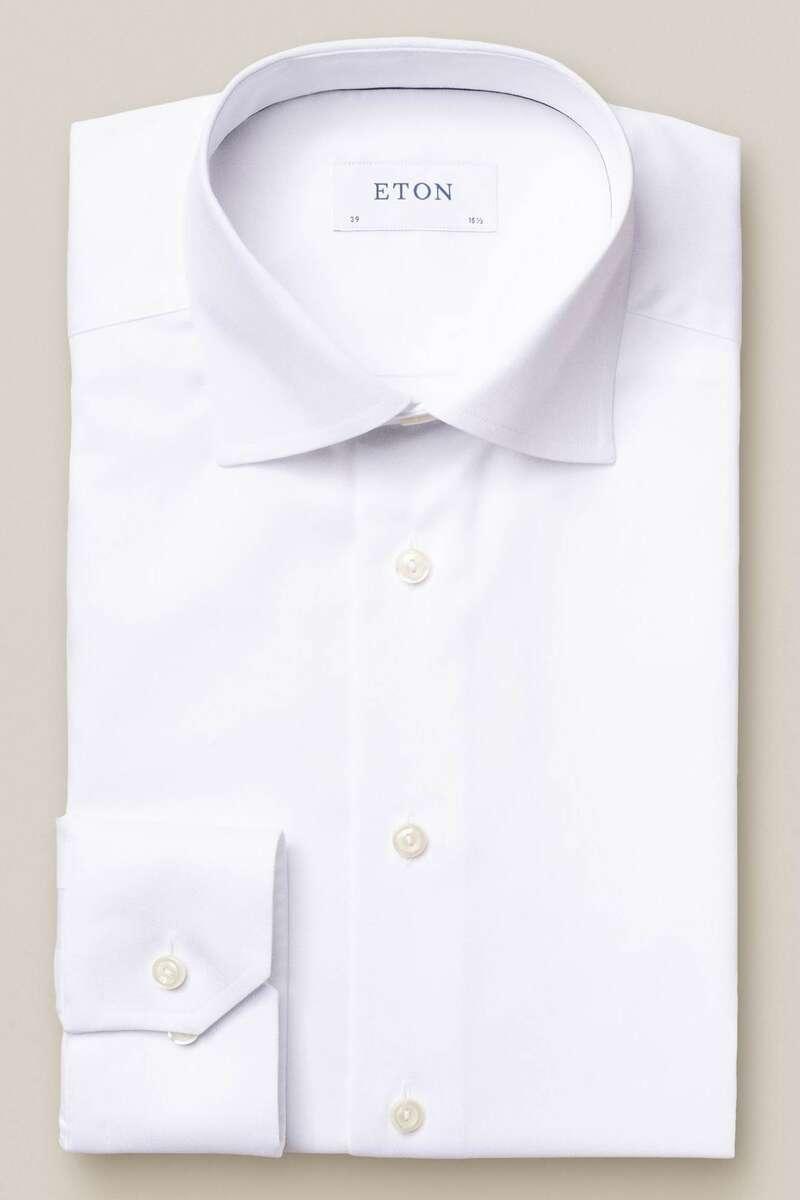 ETON Slim Fit Hemd weiss, Einfarbig 44 - XL