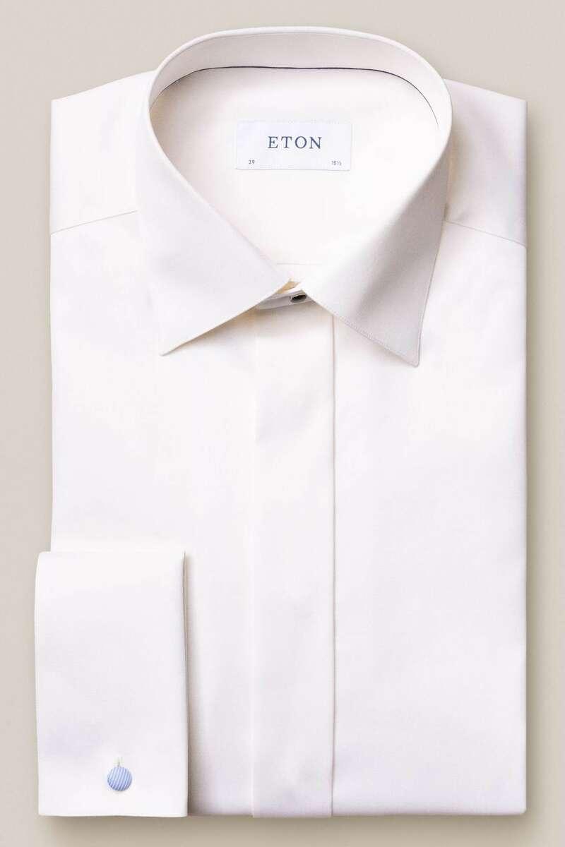 ETON Slim Fit Galahemd beige, Einfarbig 40 - M