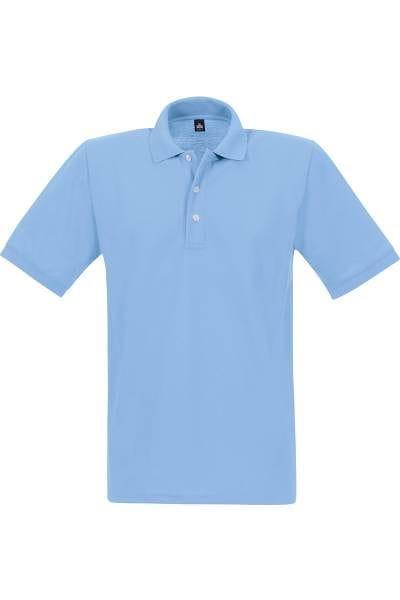 TRIGEMA Poloshirt - Comfort Fit - hellblau, Einfarbig