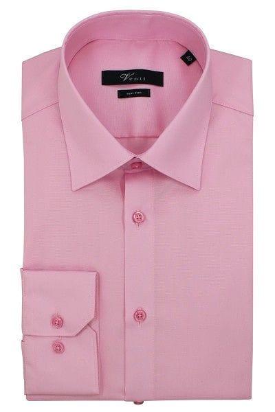 Venti Hemd - Modern Fit - rosa, Einfarbig