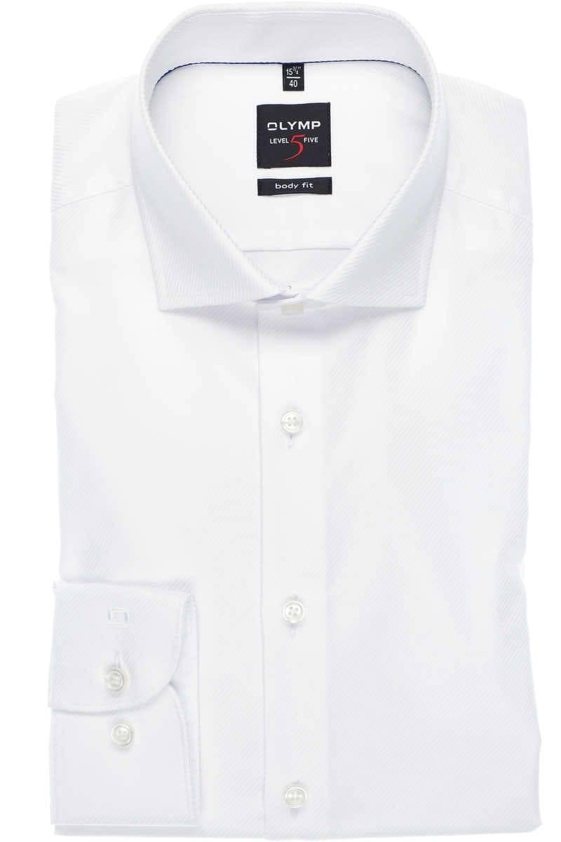 Hemd Olymp weiß gestreift Größe 38 body fit