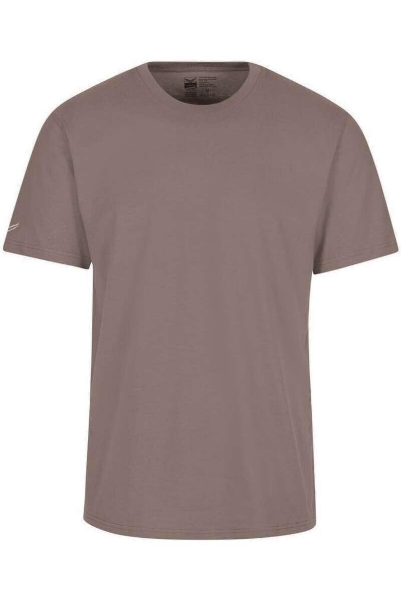 TRIGEMA Slim Fit T-Shirt Rundhals camel, einfarbig M