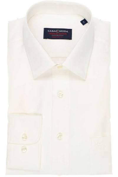 Casa Moda Hemd - Comfort Fit - beige, Einfarbig