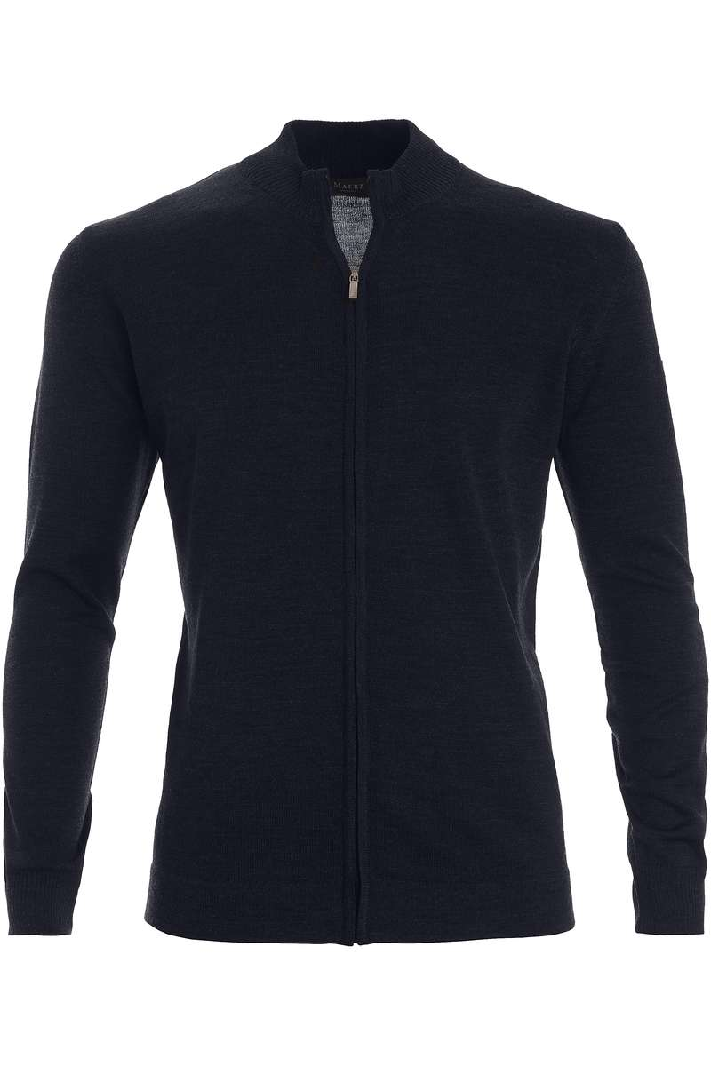 MAERZ Classic Fit Strickjacke Zip navy, einfarbig 54