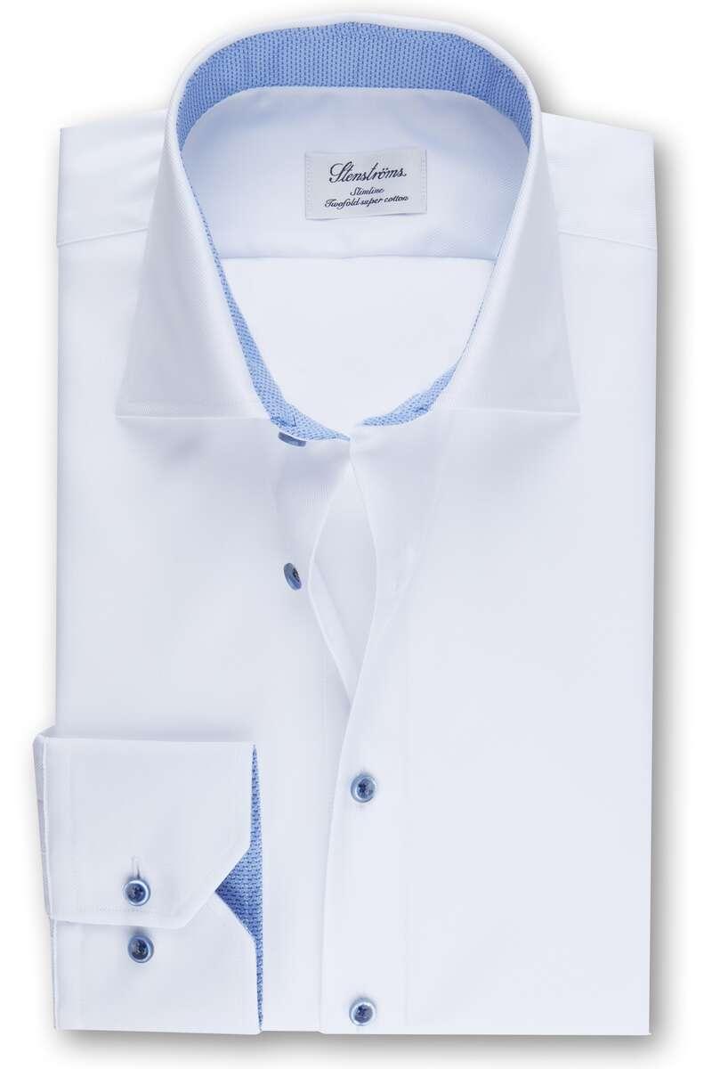 Stenströms Slimline Hemd weiss, Einfarbig 41 - L