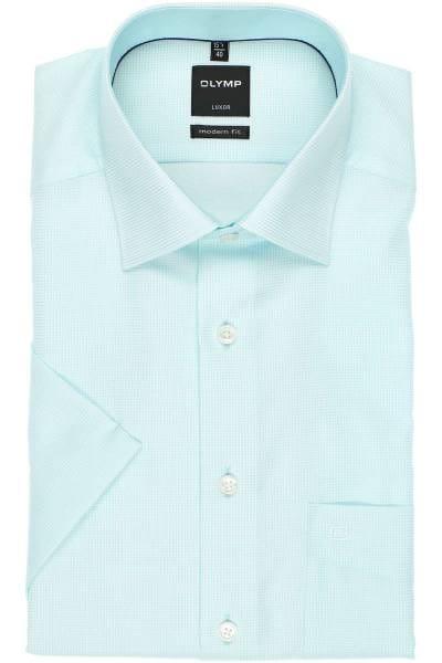 OLYMP Luxor Modern Fit Hemd mint, Gitterkaro