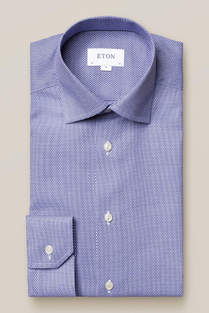 ETON Slim Fit Hemd blau, Einfarbig 38 - S