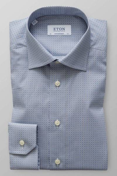 ETON Contemporary Fit Hemd blau/weiss, Gemustert