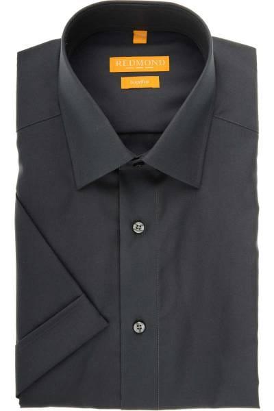 Redmond Modern Fit Hemd anthrazit, Einfarbig
