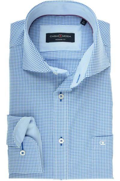 Casa Moda Modern Fit Hemd blau/weiss, Gemustert