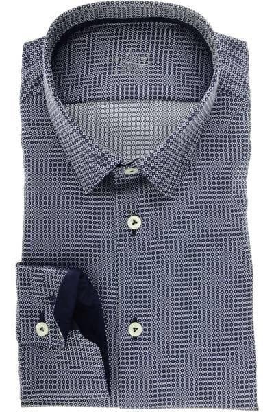 van Laack Tailor Fit Hemd blau/silber, Gemustert