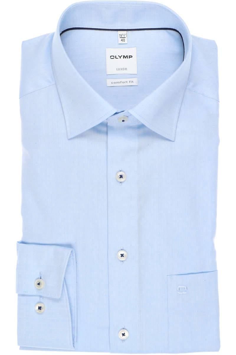 OLYMP Luxor Comfort Fit Hemd bleu, Faux-uni