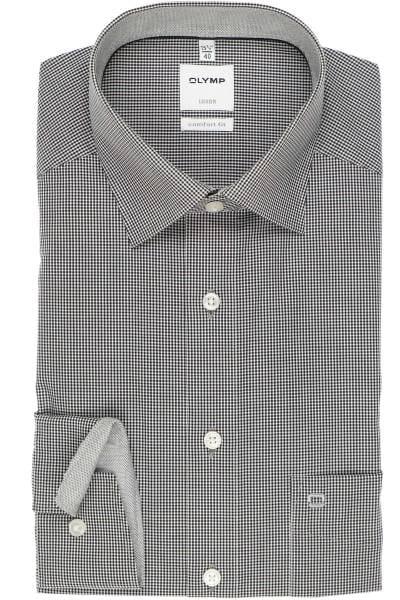 Olymp Luxor Comfort Fit Hemd schwarz/weiss, Kariert