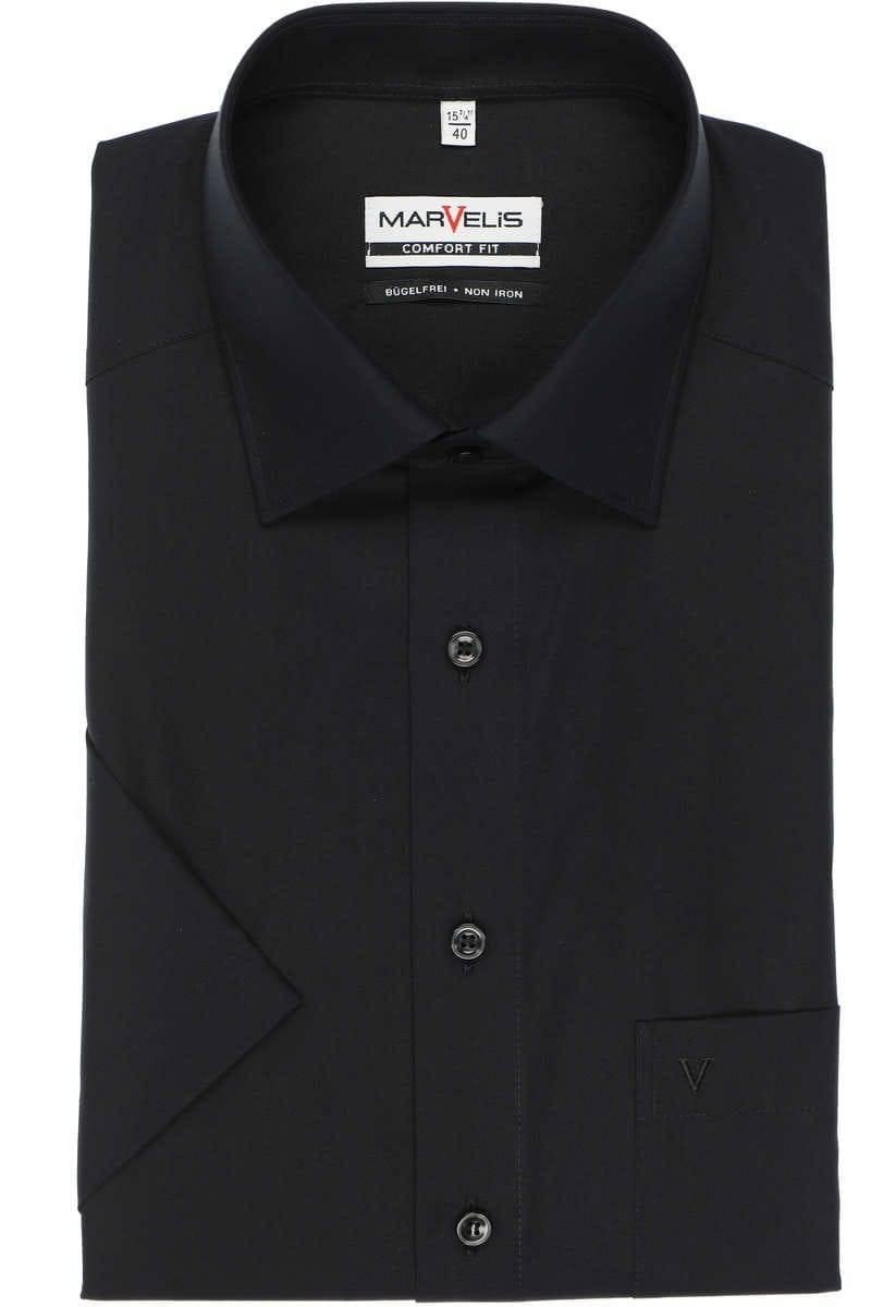 Marvelis Hemd - Comfort Fit - schwarz, Einfarbig