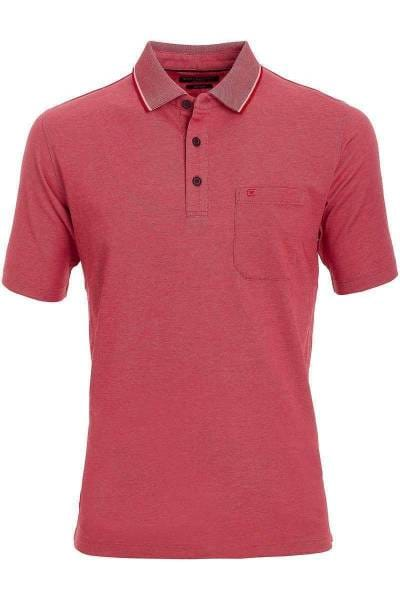 Casa Moda Poloshirt rot, melange